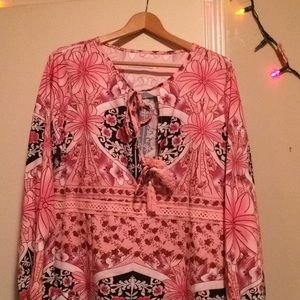 Mislook XL flowery tunic top